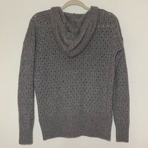 Autumn Cashmere Sweaters - Gray Cashmere Sweater Lace Front Perforated Green